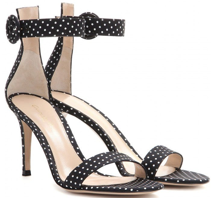 Gianvito Rossi Black Portofino Sandals