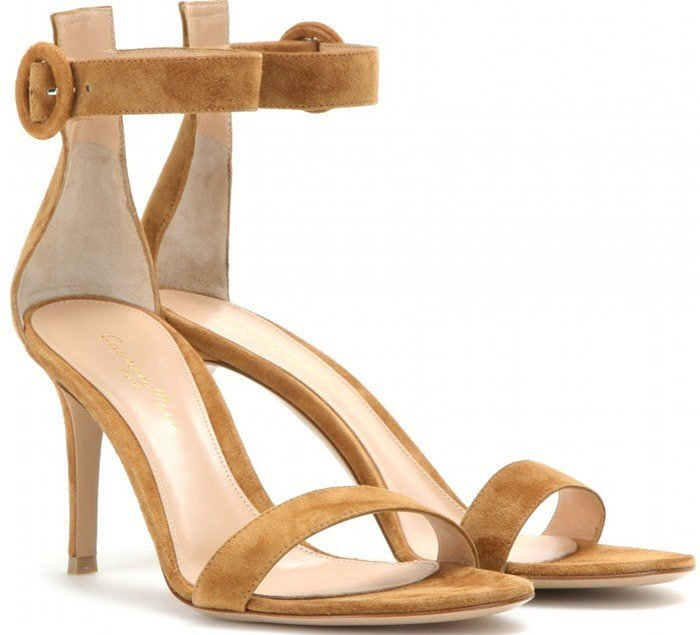 Gianvito Rossi Brown Portofino Suede Sandals