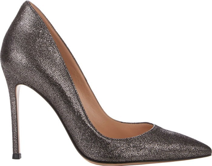 Gianvito Rossi Ellipsis Pumps Metallic Suede