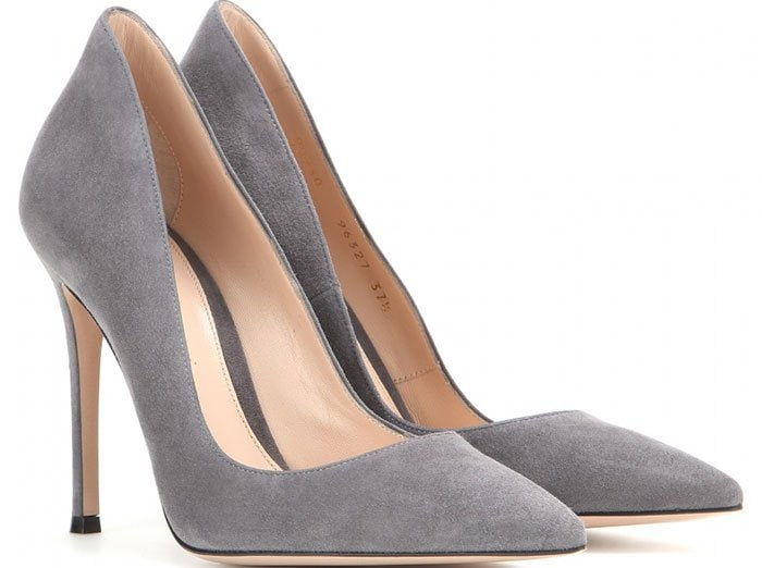 Gianvito Rossi Ellipsis Pumps Gray Suede