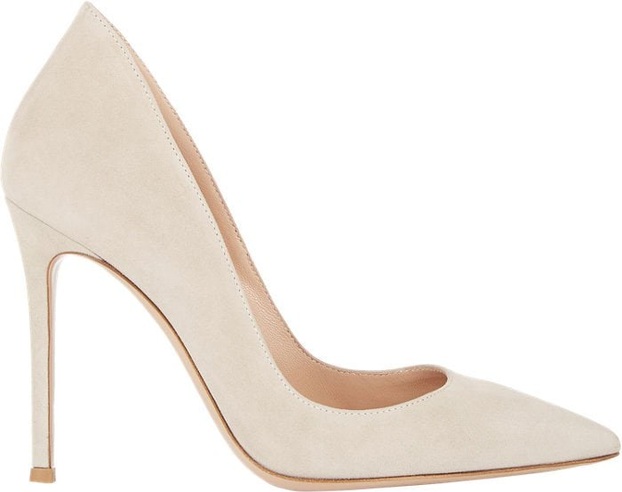 Gianvito Rossi Ellipsis Pumps Soft Shell Suede
