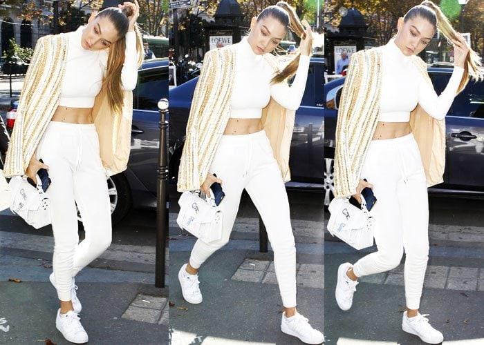 Gigi Hadid Balmain Adidas 2