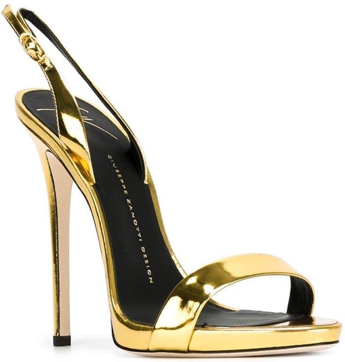 Gold Giuseppe Zanotti Slingback Sandals