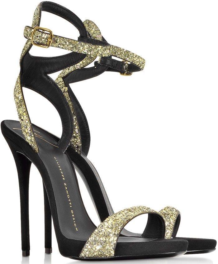 Giuseppe Zanotti Gold Glitter Ankle Strap Sandals