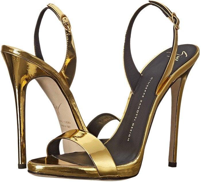 Giuseppe Zanotti Gold Ankle-Strap Heels