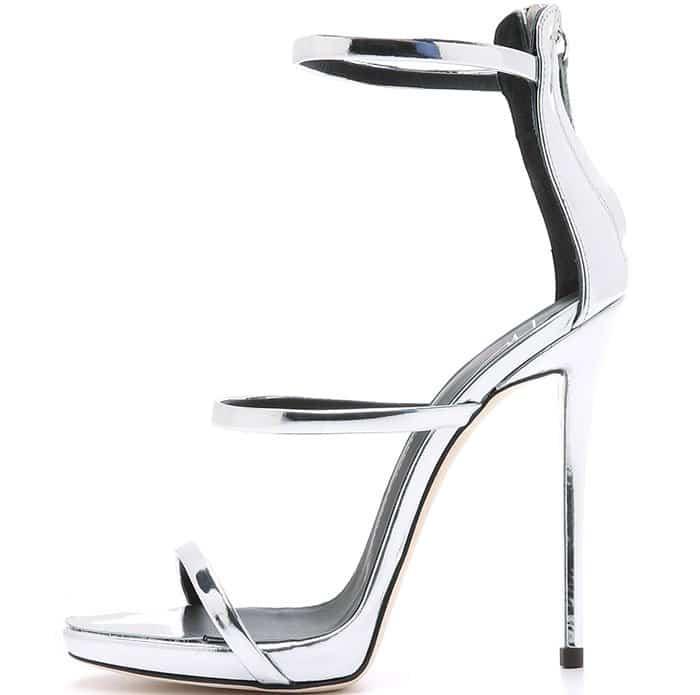 Giuseppe-Zanotti-Three-Strap-Coline-Silver-Sandals