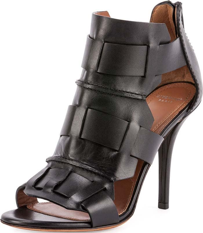 Givenchy Woven Cage Leather Sandal