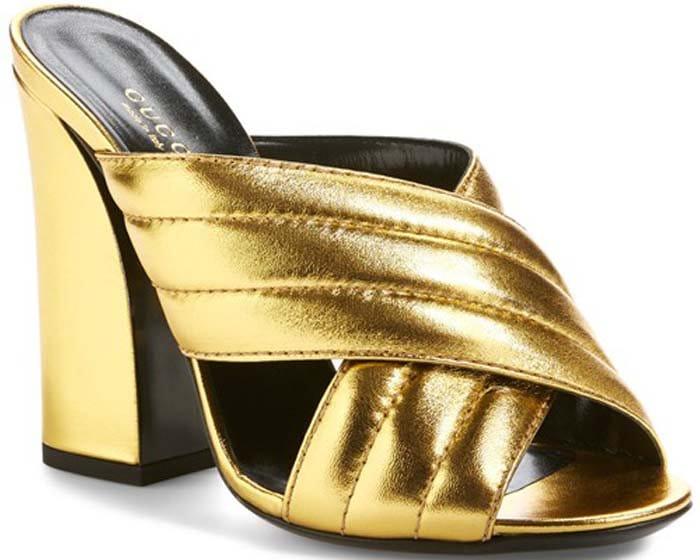 Gucci Sylvia Heels Gold