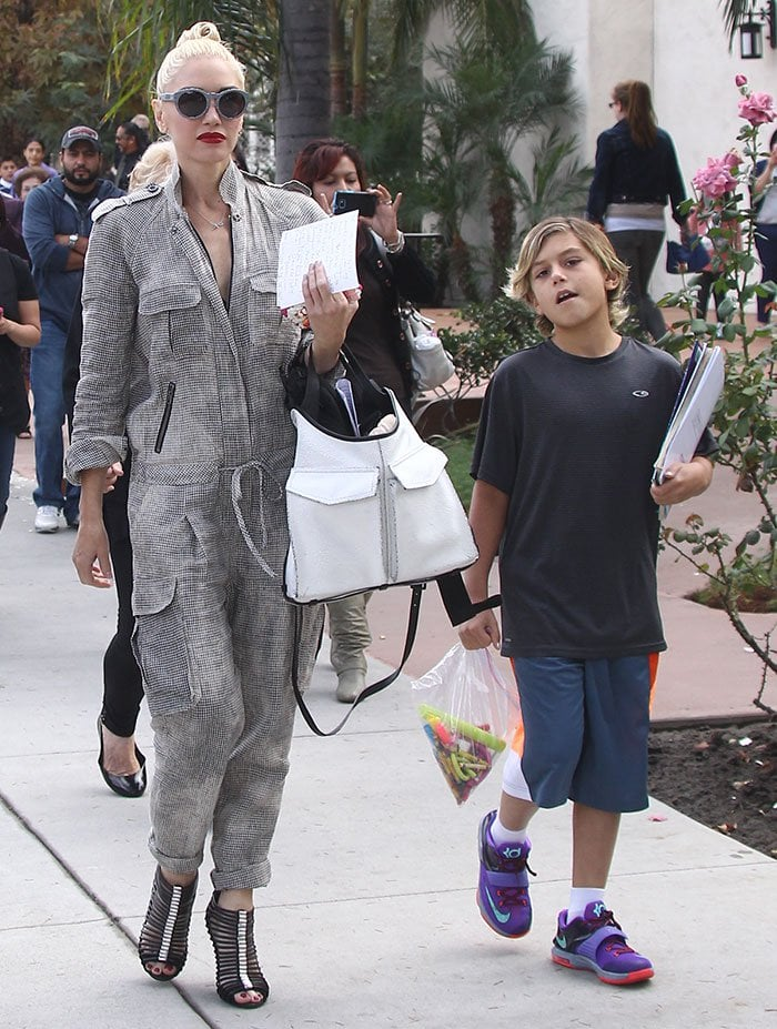 Gwen Stefani takes her sons to church before stopping at Messhall Kitchen