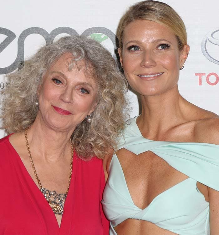 Blythe Danner and her daughter, Gwyneth Paltrow, pose together at the Environmental Media Awards