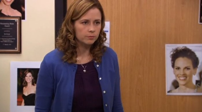 The Office debate on whether Hillary Swank is hot or not