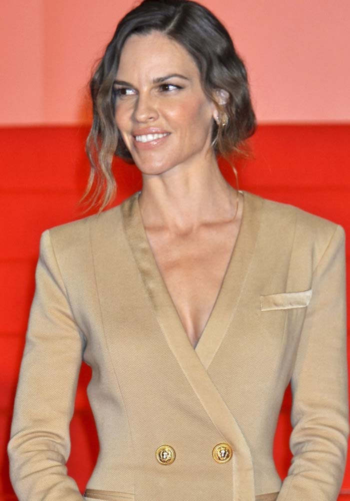 """Hilary Swank attends the """"You're Not You"""" stage greeting at the 28th Tokyo International Film Festival"""