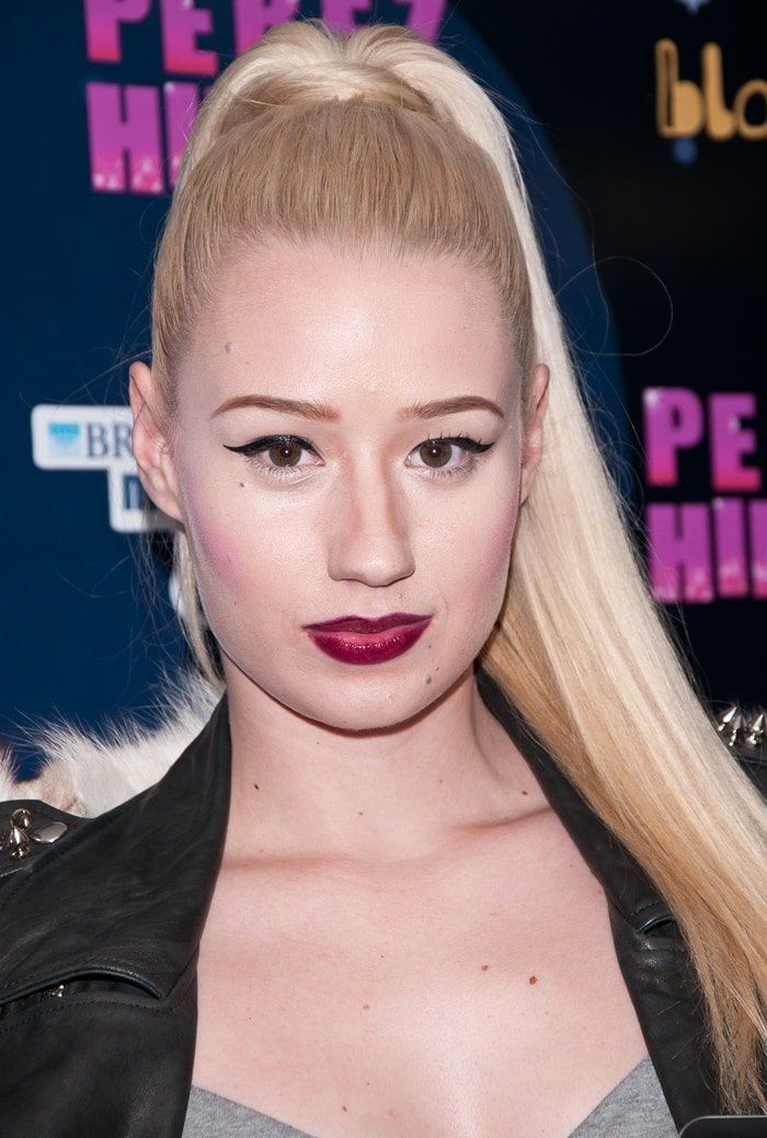Iggy Azalea pictured in October 2011 before she had plastic surgery