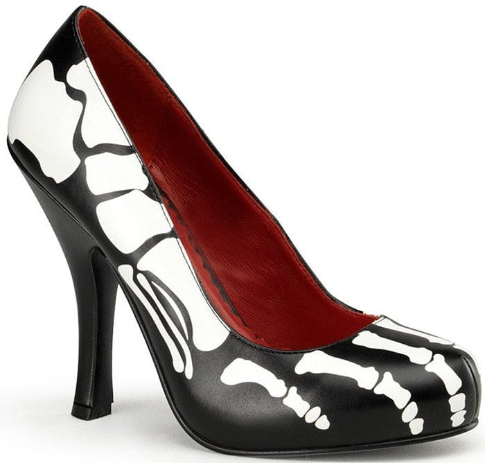 Inch High Heel Shoes Skeleton Costume Shoes