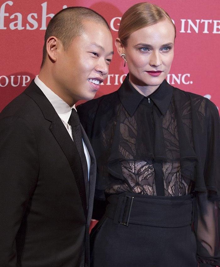 Jason Wu and Diane Kruger attend the 2015 Fashion Group International Night of Stars Gala