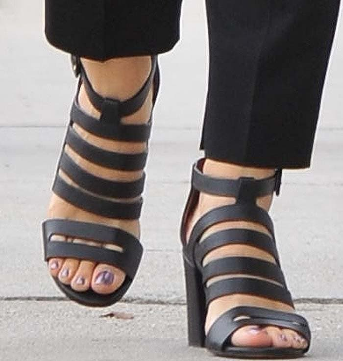 Jennifer Garner shows off her feet in Givenchy sandals