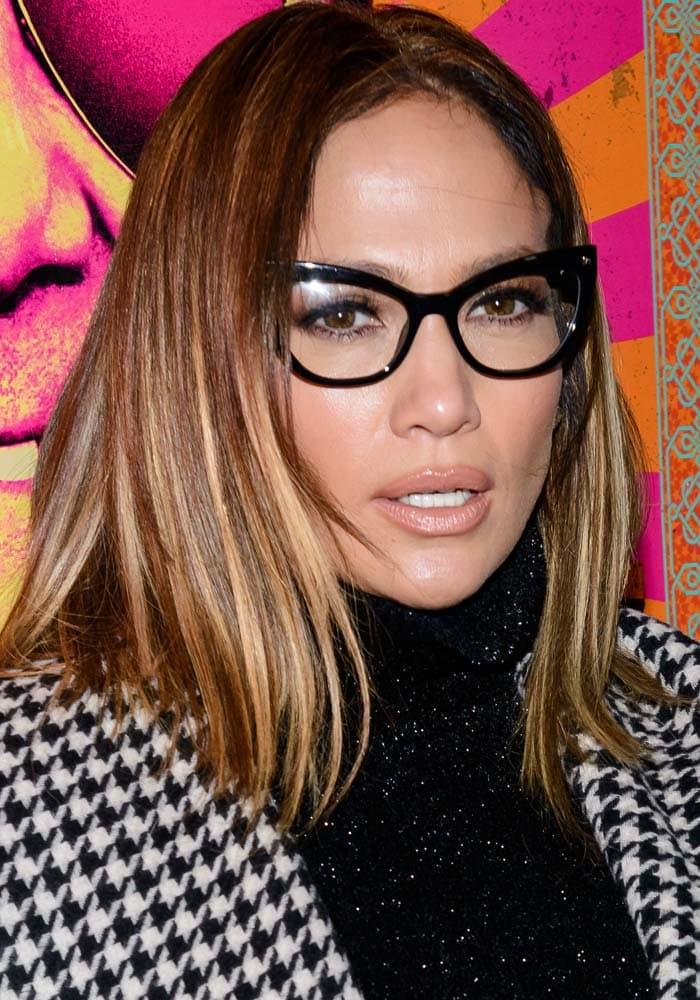 Jennifer Lopez wearing glasses by Max Mara