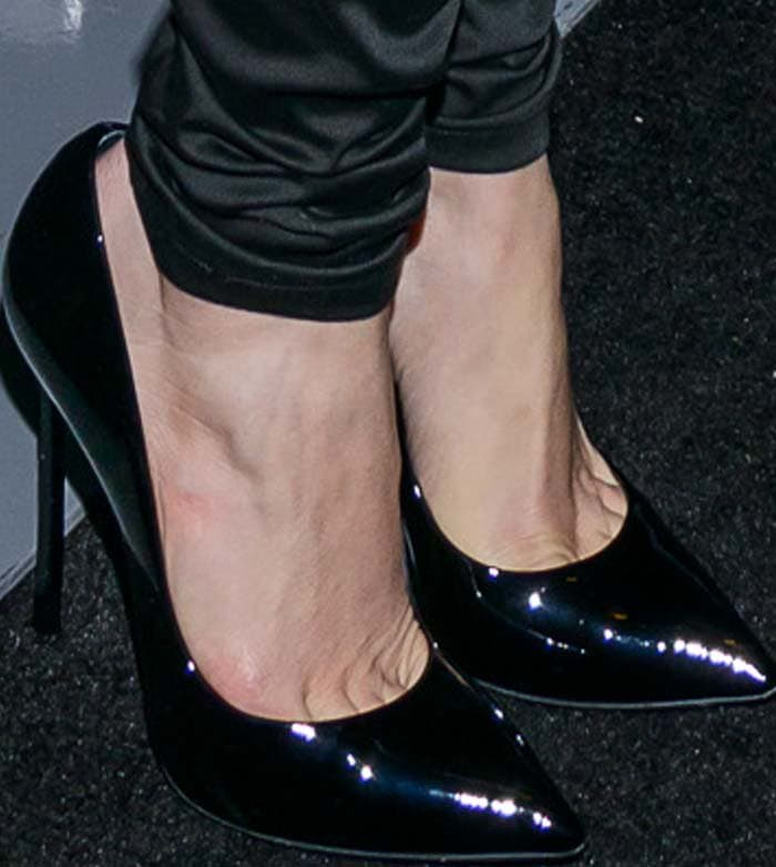 Jennifer Lopez rocks black Casadei heels