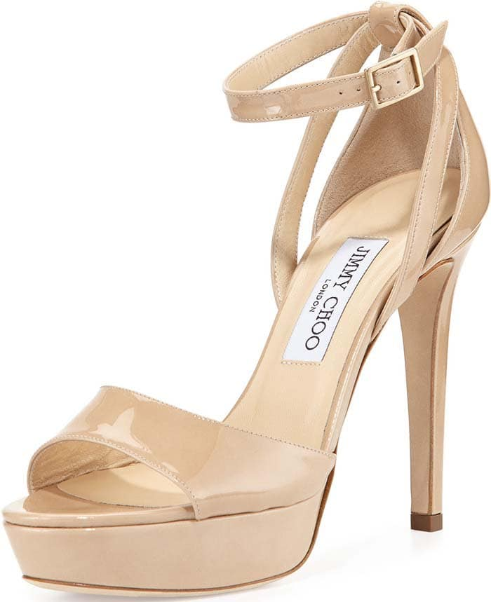 "Jimmy Choo ""Kayden"" Patent Platform Sandal"