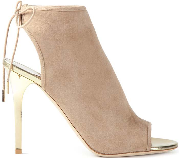 Jimmy Choo Nude And Champagne Suede Froze Slingback Mules