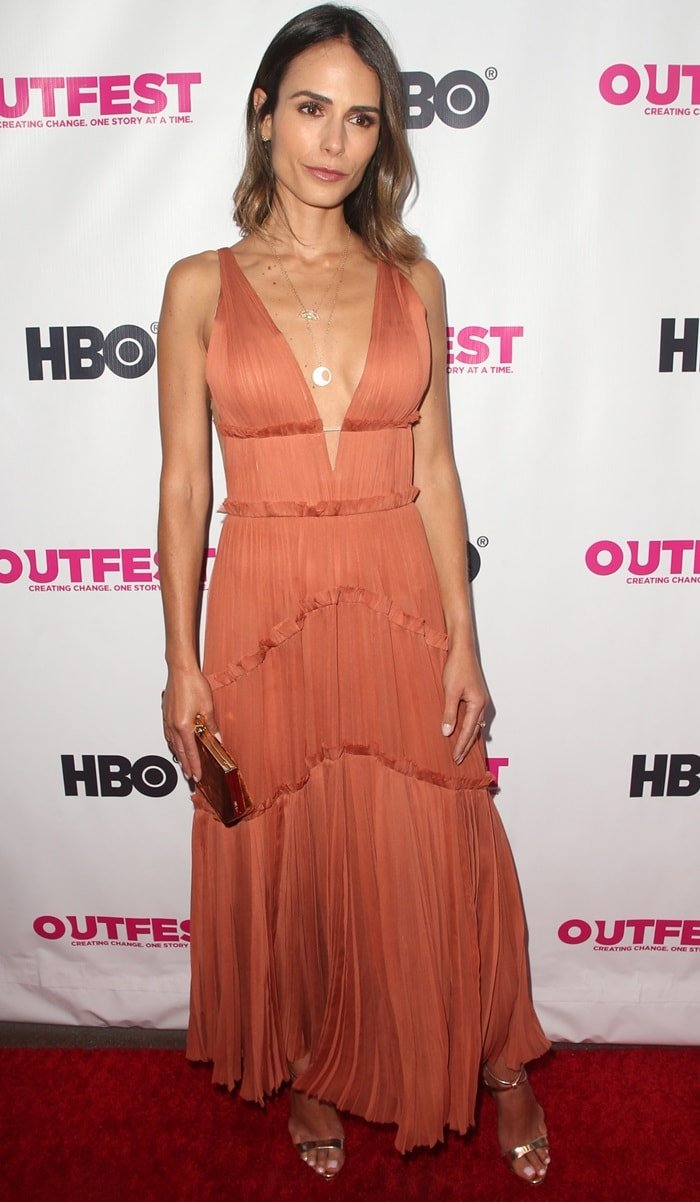 Jordana Brewster attended the 2018 Outfest Los Angeles opening night gala screening of 'Studio 54'