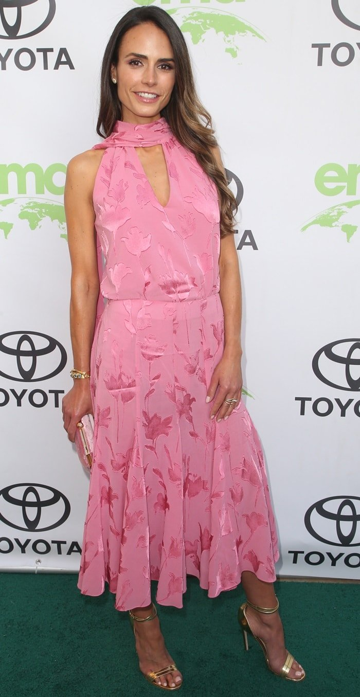 Jordana Brewster's pink floral dress at the 2018 Environmental Media Awards