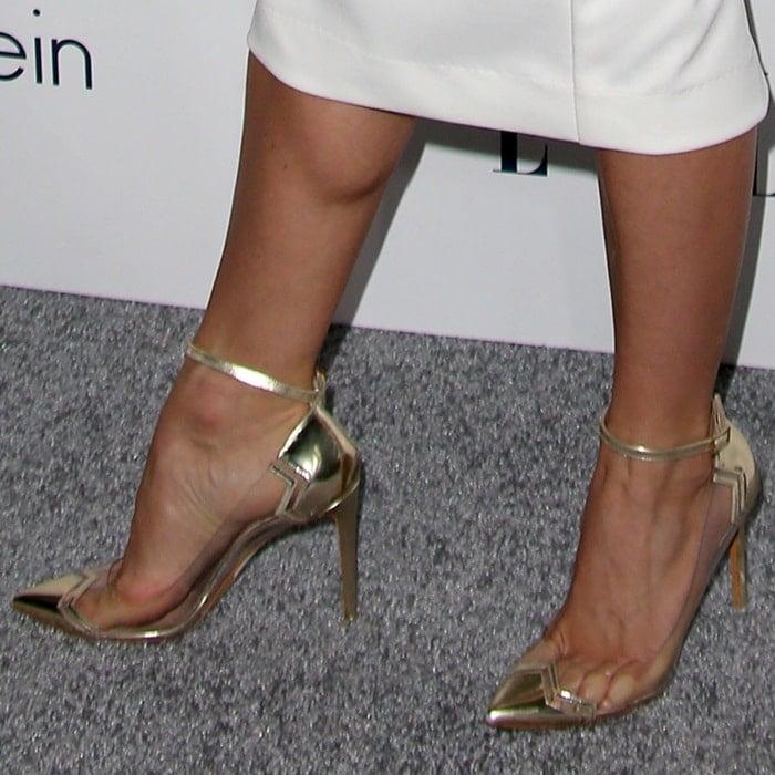 "Julianne Hough showing off her feet inNicholas Kirkwood ""Mirage"" pumps"