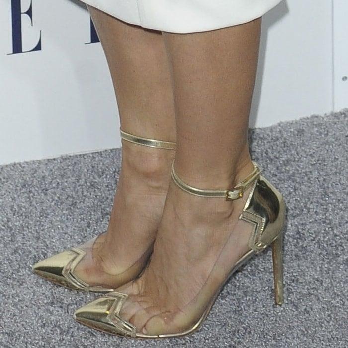 "Julianne Hough Tortures Her Feet In ""Mirage"" PVC Pumps"