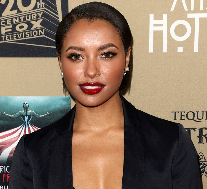 Kat Graham at the premiere of FX's American Horror Story: Hotel held at the Regal Cinemas LA Live in Los Angeles on October 3, 2015