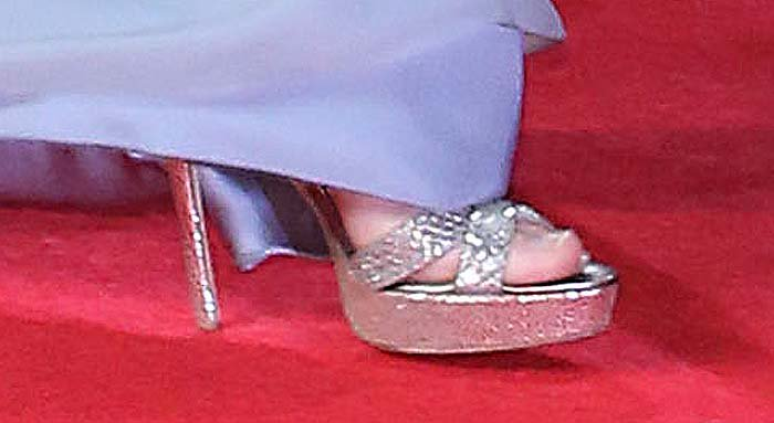 Kate Middleton's feet in Jimmy Choo heels