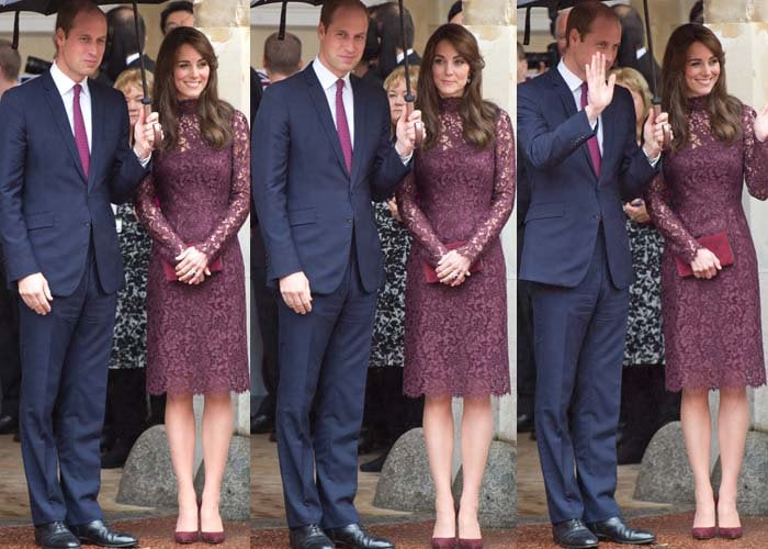 Prince William and Kate Middleton greet Chinese President Xi Jinping at the Lancaster House in London