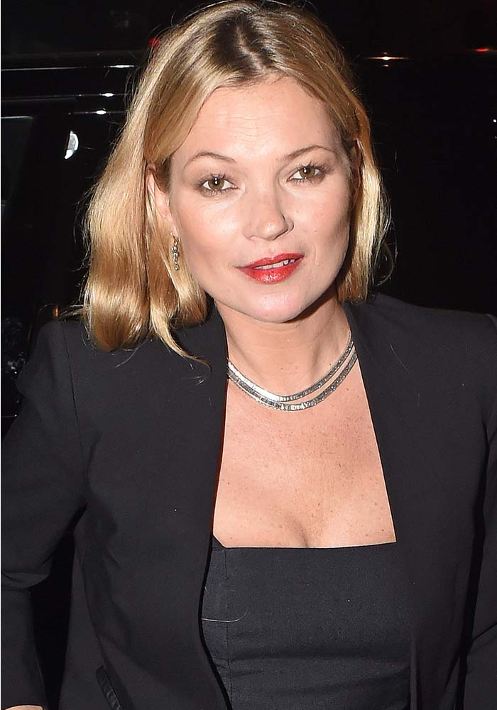 Kate Moss arrives at Chiltern Firehouse