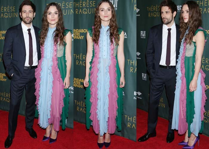 """Matt Ryan and Keira Knightley pose for photos at the opening night of """"Thérèse Raquin"""""""