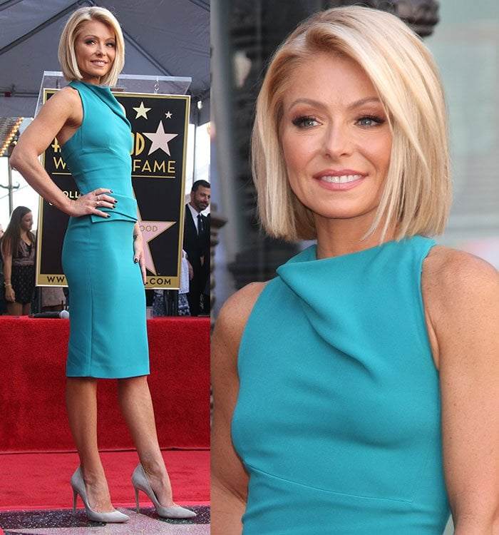 Kelly Ripa receiving a star on the Hollywood Walk of Fame in Los Angeles on October 12, 2015