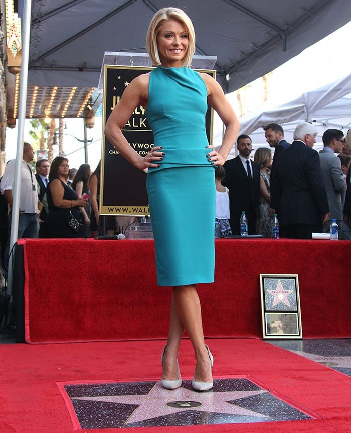 Kelly Ripa's dress showcased her slim frame