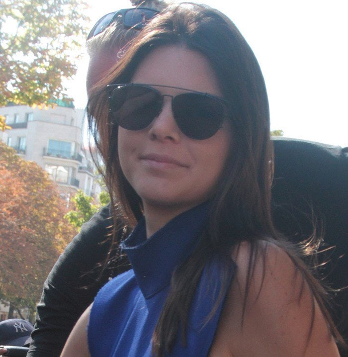 Kendall Jenner leaves the George V Hotel in Paris