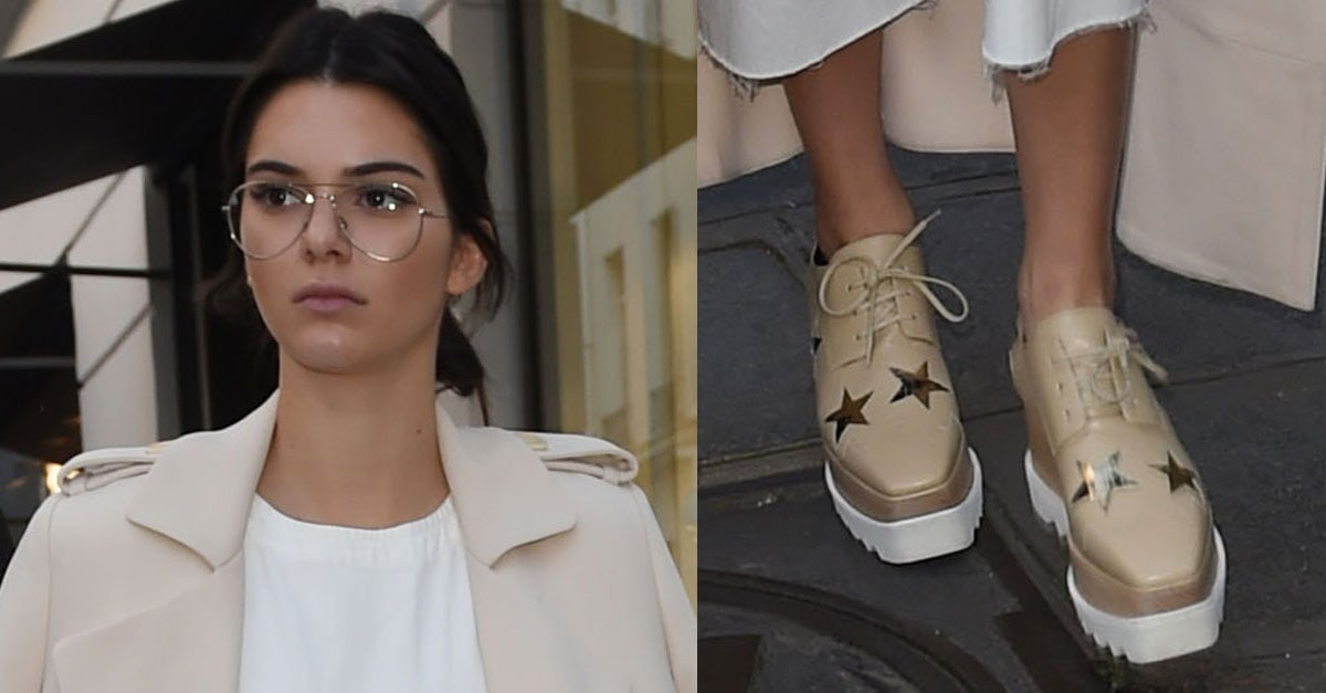 148aff77f5f Off-Duty Chic Kendall Jenner s Garrett Leight Glasses and Loose Ponytail