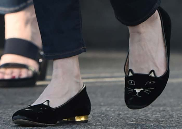 """Kirsten Dunst wears Charlotte Olympia's infamous """"Kitty"""" flats"""