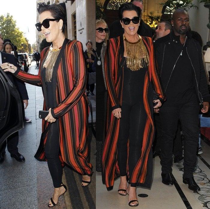 Kris Jenner's skintight catsuit flaunted her slim figure