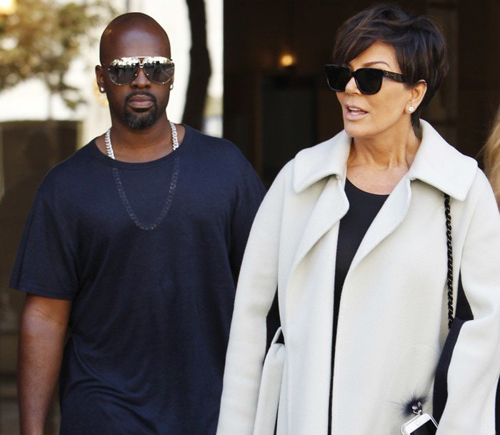 Kris Jenner and Corey Gamble out and about in Paris on October 3, 2015