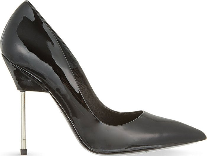 "Black Patent Kurt Geiger ""Britton"" Pumps"