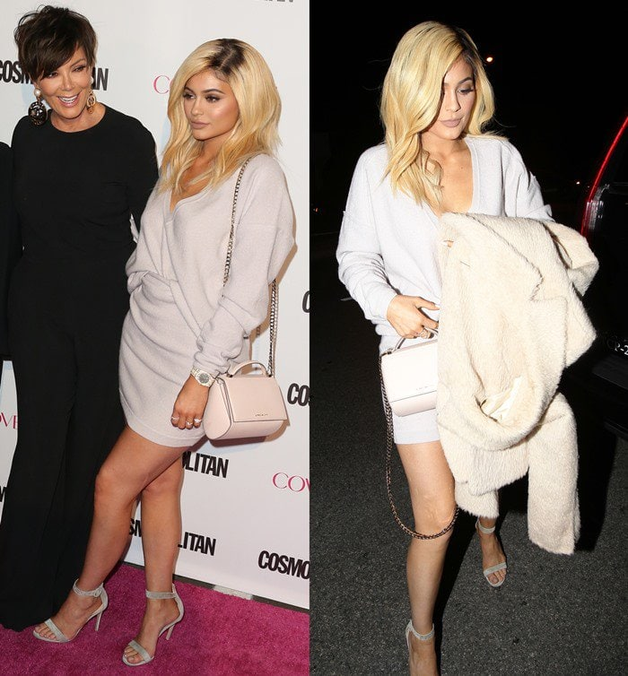 Kylie Jenner'sthigh-skimming, cream-colored look