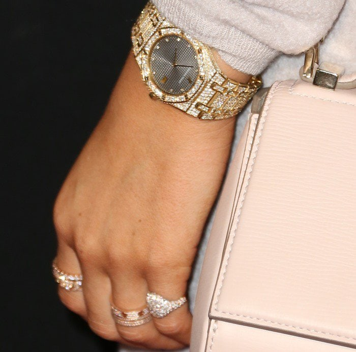 Kylie Jenner's gold watch and jewelry