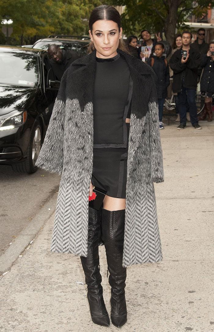 Lea Michele Copies Kim Kardashian In Giuseppe Zanotti