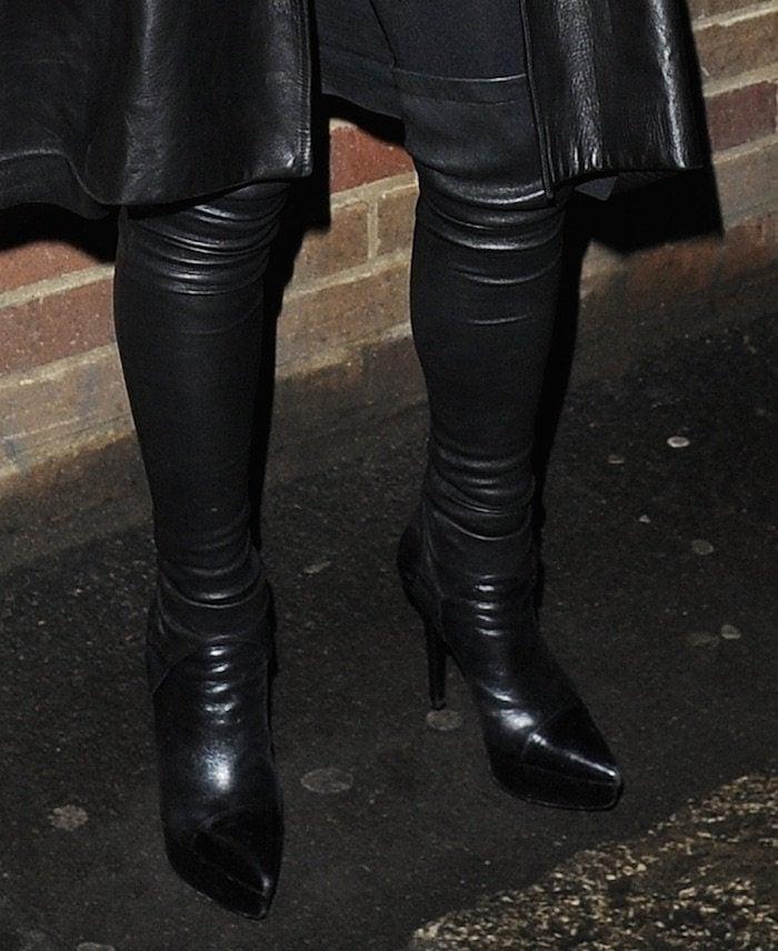 Lindsay Lohan Thigh High Boots