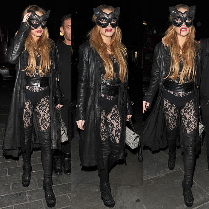 Lindsay-Lohan-sheer-lace-bodysuit-cat-ears-Halloween-party