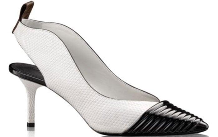 Louis-Vuitton-Inspired-Slingback-Pumps-Black-White