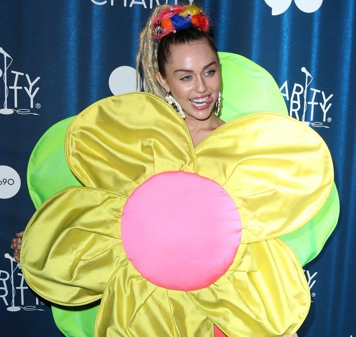 Miley Cyrus attends Hilarity for Charity's annual variety show: James Franco's Bar Mitzvah held at the Hollywood Palladium in Los Angeles on October 17, 2015