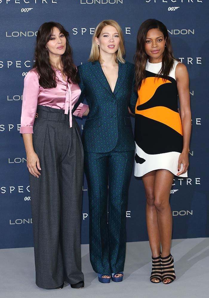 "Monica Belluci, Lea Seydoux and Naomie Harris promote their upcoming Bond film, ""Spectre"""