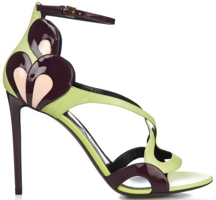 Nicholas Kirkwood Patent-petal leather sandals